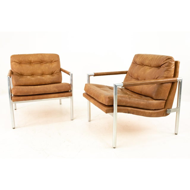 Mid-Century Modern Jack Cartwright for Founders Mid Century Lounge Chairs - Pair For Sale - Image 3 of 11
