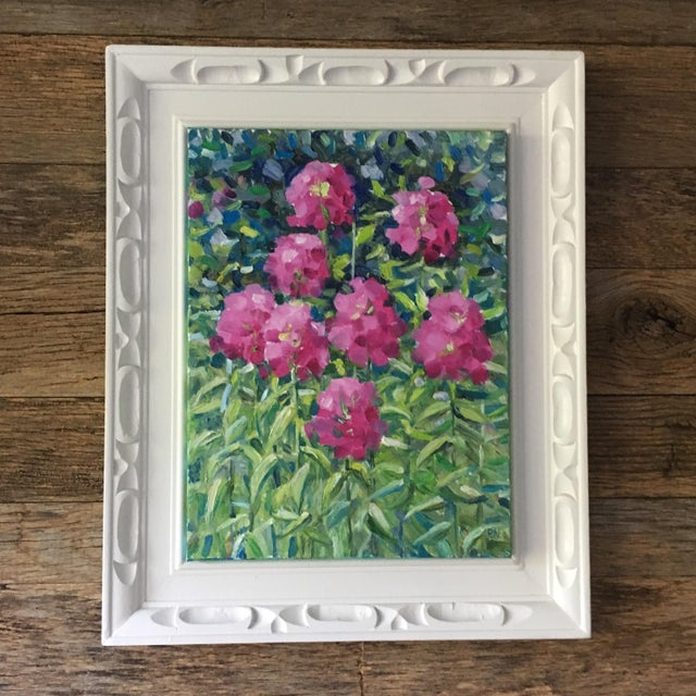 Pink Flowers Original Still-Life Oil Painting - Image 2 of 5