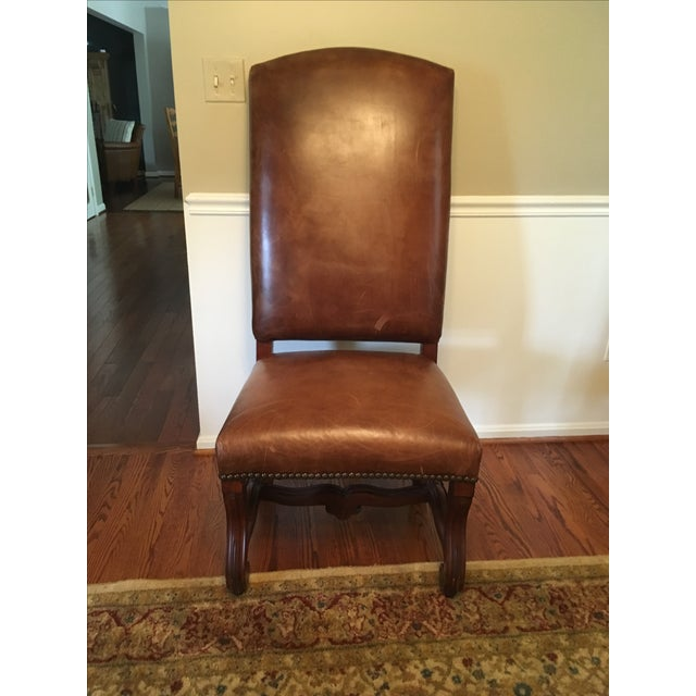 Ralph Lauren Leather Dining or Accent Chairs - S/4 - Image 4 of 6