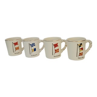 Vintage Nautical Mugs - Set of 4