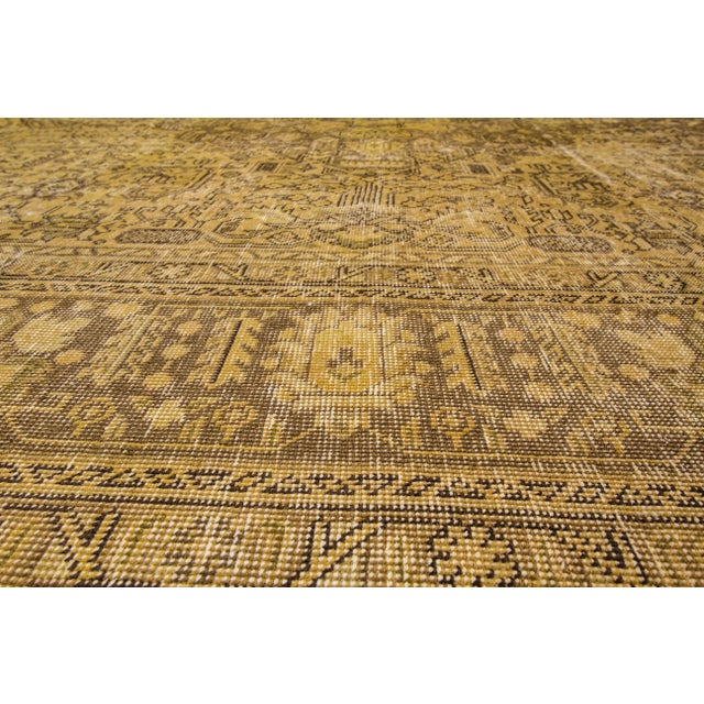 Apadana Yellow Over-Dyed Rug - 9′5″ × 12′8″ For Sale - Image 4 of 7
