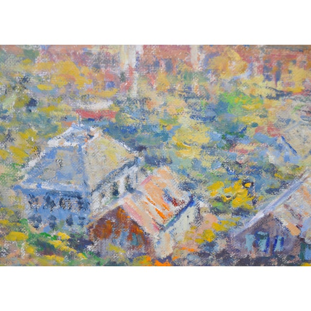 Western Mountain Village Oil Painting For Sale - Image 4 of 6
