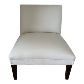 Modern Leather Slipper Chair For Sale