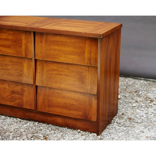 Modern Nine Drawer Low Boy Dresser For Sale - Image 5 of 10