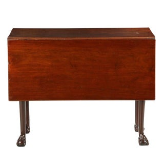 Antique English Georgian Mahogany Drop Leaf Table For Sale