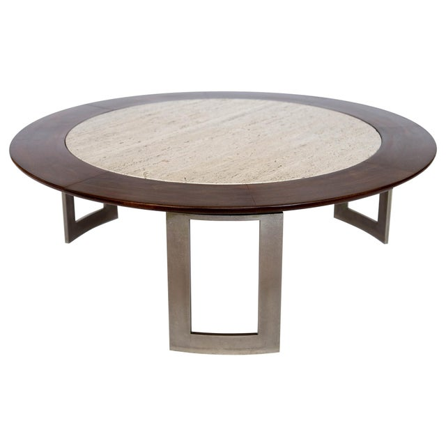 Vintage Travertine Coffee Table - Image 4 of 8