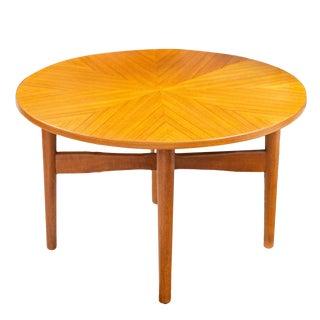 Danish Modern Round Teak Side Table For Sale