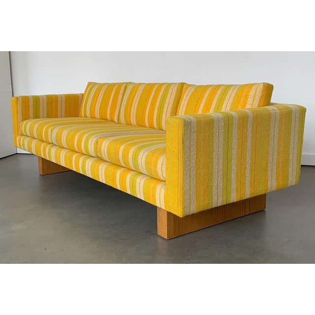 Mid-Century Modern Harvey Probber Tuxedo Sofa With Oak Legs For Sale - Image 3 of 13