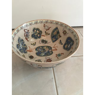 Vintage Japanese Porcelain Imari Painted Punch Bowl Preview