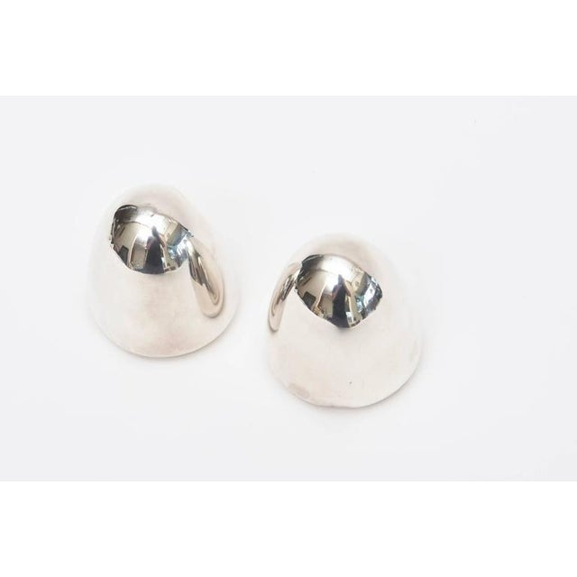 Pair of Modernist Antonio Pineda Sterling Silver Salt and Pepper Shakers For Sale - Image 5 of 9