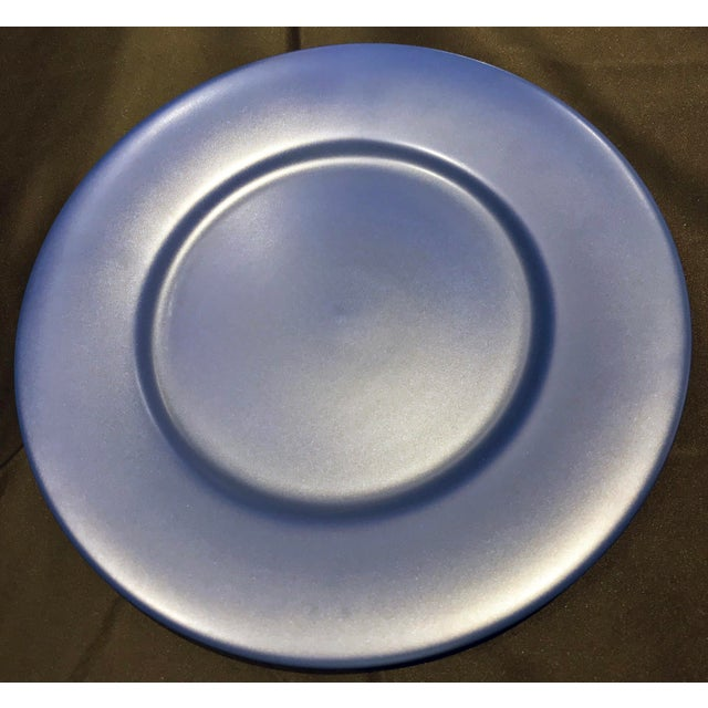Contemporary Gien France Blue Chargers - Set of 8 For Sale - Image 3 of 9