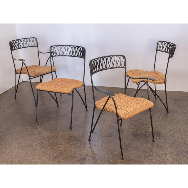 Salterini Woven Ribbon Chairs and Table Patio Set - 5 pieces For Sale In New York - Image 6 of 11