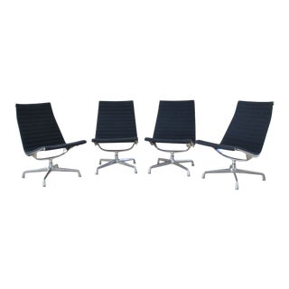 Blue Herman Miller Eames Group Lounge Chairs - Set of 4 For Sale