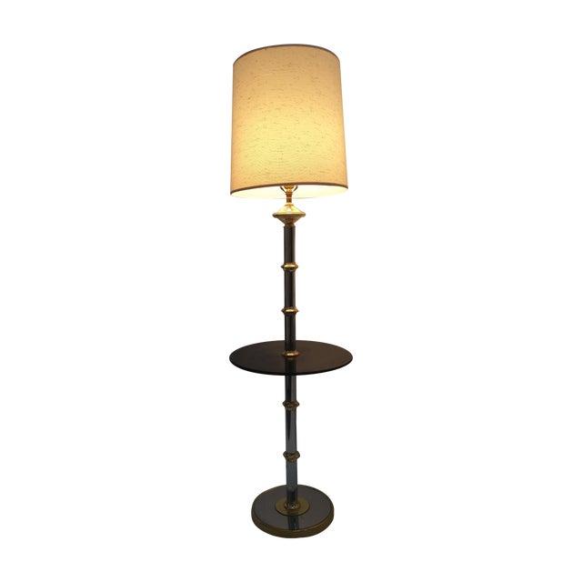 Laurel Smoked Chrome & Brass Bamboo Floor Lamp | Chairish
