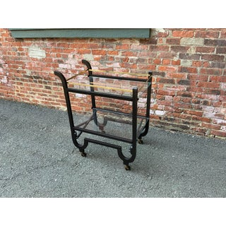 Curvaceous Art Deco Brass and Glass Serving Cart Preview