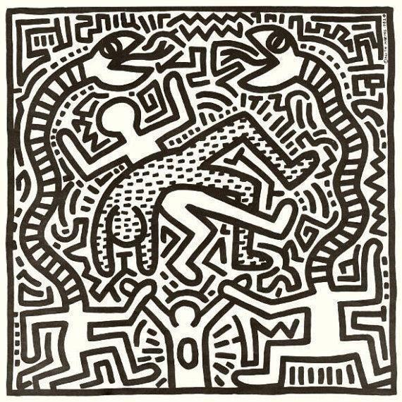 Vintage Keith Haring Record Artwork - Image 1 of 4