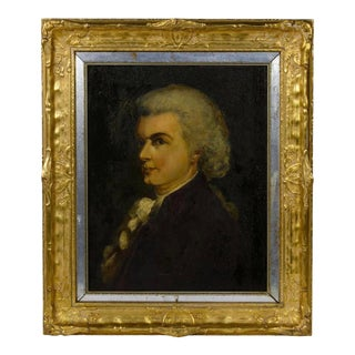 18th Century Antique English School Oil on Canvas Portrait of a Gentleman Painting For Sale