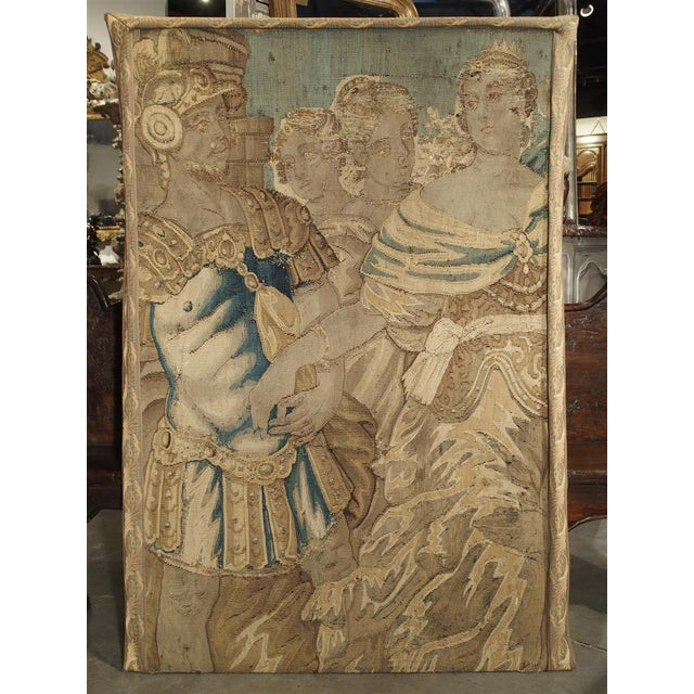 17th Century French Tapestry Fragment on Frame For Sale - Image 9 of 11