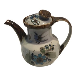 1960s Ken Edwards Mexican Pottery Tea Pot For Sale