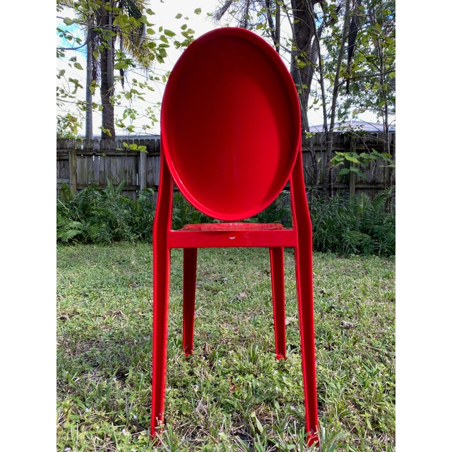 Mid-Century Modern Victoria Ghost Red Chair Phillip Starck for Kartell For Sale - Image 3 of 8