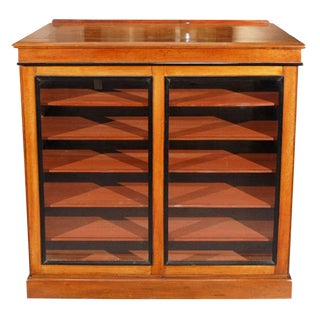 1820s English William IV Mahogany Portfolio Cabinet For Sale