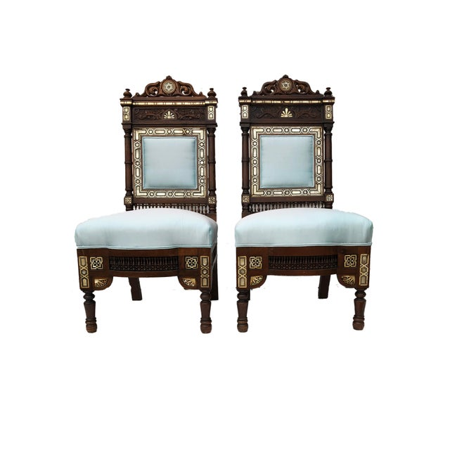 Late 19th Century Museum Pieces 19th C Moorish Pair of Chairs For Sale - Image 5 of 12