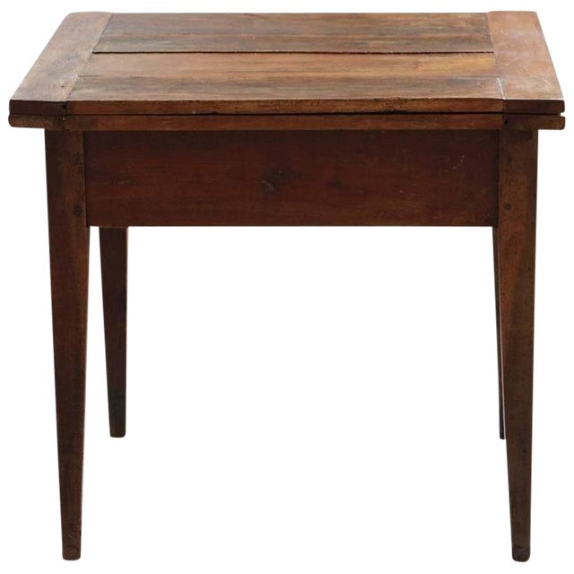 Late 19th Century Card Table with Tilt Top Mechanism For Sale