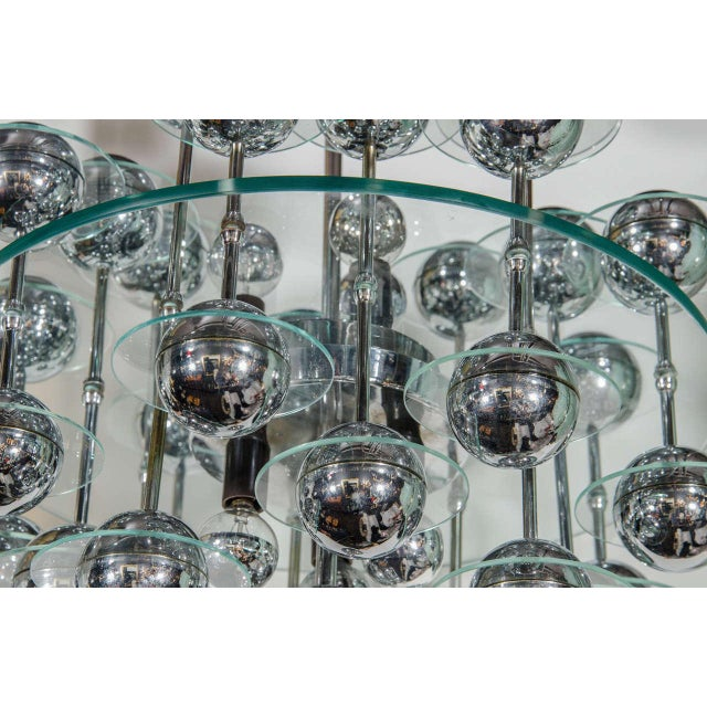 Mid-Century Modern Mid-Century Modern Space Age Chandelier For Sale - Image 3 of 8