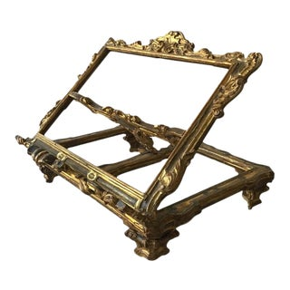 1890s Giltwood Italian Book Stand For Sale