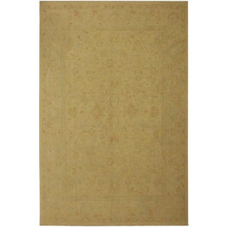 Contemporary Ziegler Sun-Faded Gaynelle Beige Wool Rug -9'0 X 11'7 For Sale
