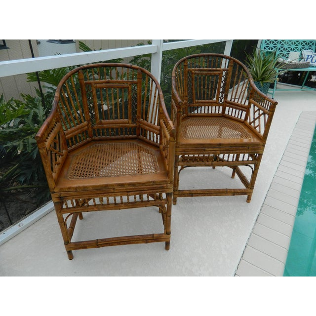 Vintage Brighton Pavilion-Style Bamboo Chairs - A Pair - Image 10 of 11