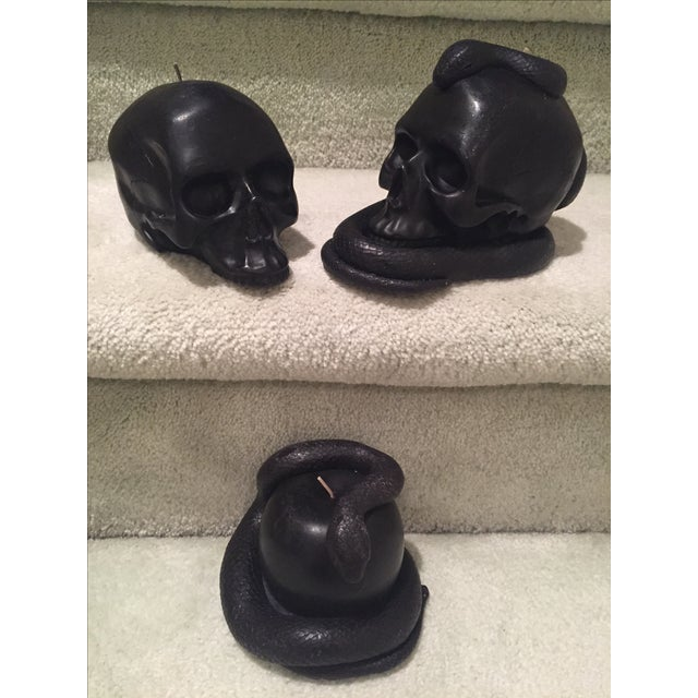 Halloween Skull & Snake Candles - Set of 3 - Image 2 of 6