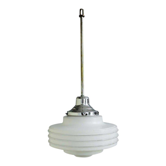 Frosted Glass Ceiling Fixture For Sale
