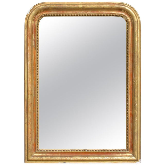 Antique French Gilt Louis Philippe Mirror With Floral Details For Sale - Image 13 of 13