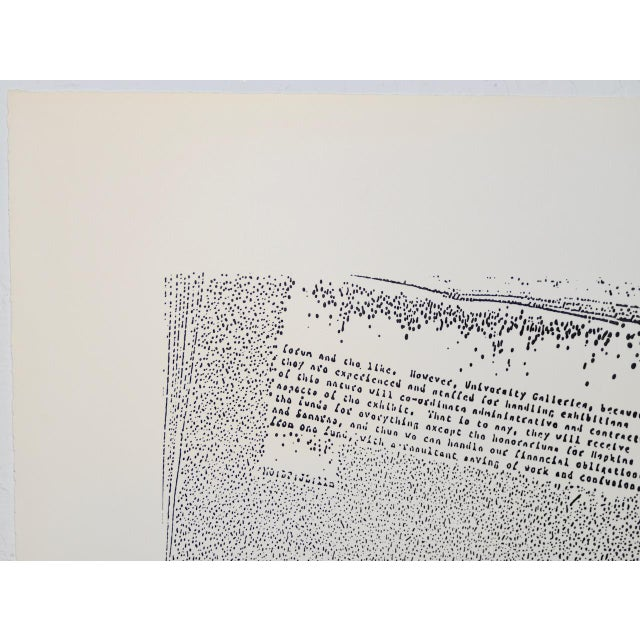 """John Link (American, B.1942) """"Untitled"""" Limited Edition Lithograph C.1973 For Sale - Image 4 of 8"""