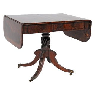 Classical Regency Sheraton English Drop-Leaf Table For Sale