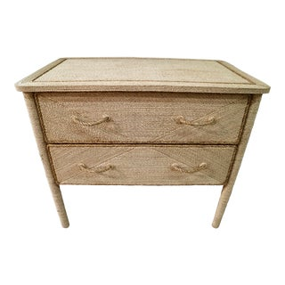 Natural Rope Covered Drawer Chest
