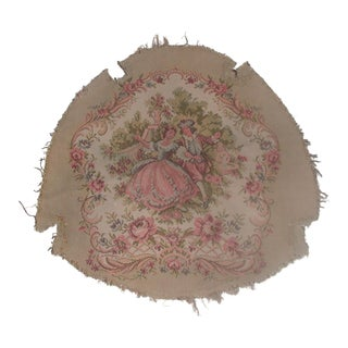 20th Century French Tapestry Chair Seat