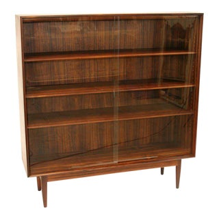 Danish Rosewood Bookcase For Sale