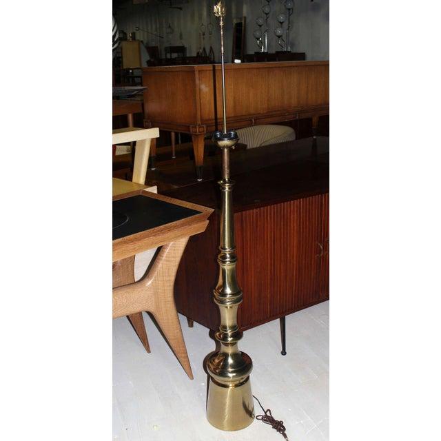 Metal Mid-Century Modern Large Finial Shape Floor Lamp For Sale - Image 7 of 7