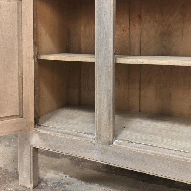 Metal Buffet, Antique Gothic in Whitewashed Oak For Sale - Image 7 of 13