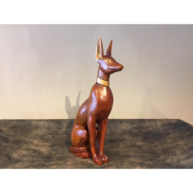 Mid 20th Century Empire Style Greyhound Statue For Sale - Image 5 of 7