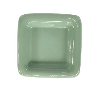 1960's Haeger Modernist Dusty Green Rounded Ceramic Centerpiece Bowl or Planter For Sale