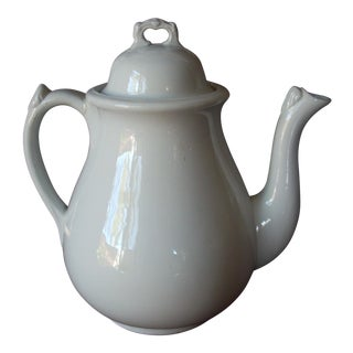 1920s Ironstone Classic Coffee Pot For Sale