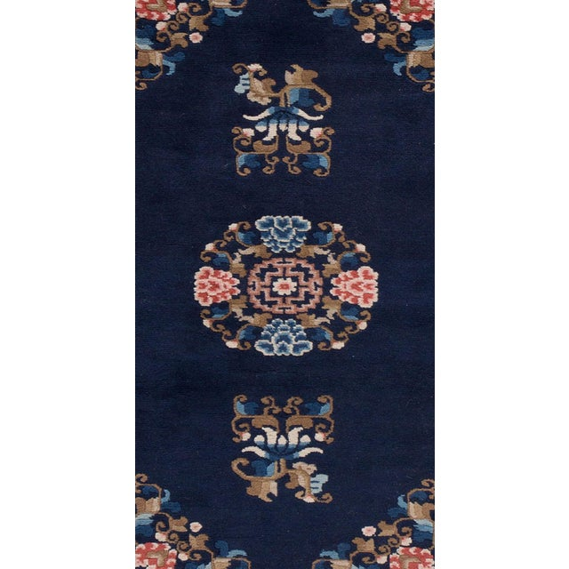 """Apadana - Antique Blue and Pink Chinese Peking Rug, 2'4"""" x 4'4"""" For Sale - Image 4 of 5"""