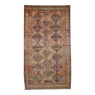 Distressed Antique Persian Malayer Rug With Rustic Industrial Style, 10' X 17'9 For Sale