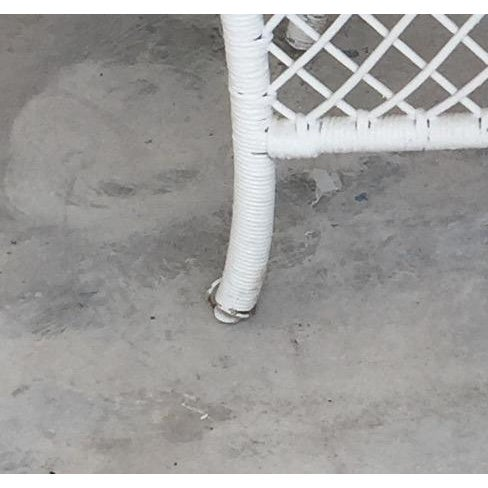 Wicker & Oak Drop-Leaf Dining Table For Sale - Image 10 of 10