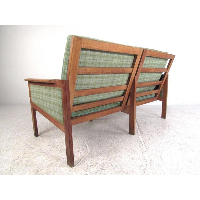 "Niels Eilersen Illum Wikkelsø for N. Eilersen A/S Mid-Century Modern ""Capella"" Settees - A Pair For Sale - Image 4 of 11"