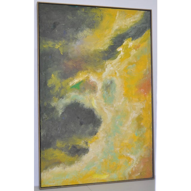 Vintage Abstract Oil Painting C.1969 - Image 6 of 6