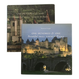"""101 Beautiful Small Towns Italy & France"" Rizzoli Books - a Pair For Sale"